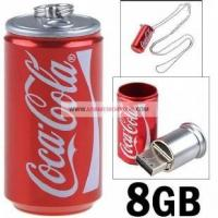 China 8GB Novelty Aluminium Coca-Cola Soda Can USB Thumb Drive on sale