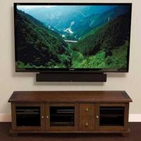 China Sanus ACV73 TV Stand in Caramel Brown or Charcoal finish up to 80 TVs. on sale
