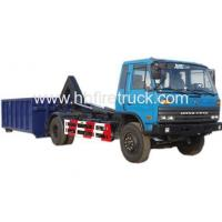 Quality DongFeng Cummins Engine Hook Lift Garbage Truck for sale