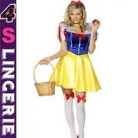 China Sexy Costume Chariming yellow white snow fancy dress costume on sale