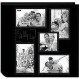 Quality Pioneer Collage Frame Embossed Family Sewn Leatherette Cover 240 Pocket Photo Album, Black for sale