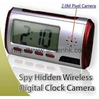 Spy Hidden Camera Mini Alarm Clock with Covert Anti-Theft Motion-Detection Surveillance DVR Camera