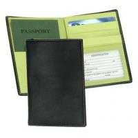 Quality Leather Passport & Currency Wallet w ID Window & Credit Card SlotsItem #: 95151 for sale