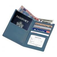 Quality Leather Passport Wallet w 2 Currency Compartments & ID WindowItem #: 95153 for sale