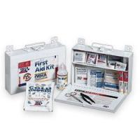 Quality 25 Person / OSHA First Aid Kit Metal Box for sale