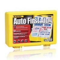 Quality 6 Person, Auto First Aid Kit - Medium, Yellow Plastic Case for sale