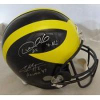 China Desmond Howard & Charles Woodson Autographed Michigan Wolveriens Helmet w/Heisman on sale