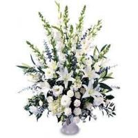China All White Flowers Basket on sale
