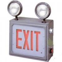 China Class 1 & 2 Division 2 LED Combo Direct View Exit Sign with Emergency Lights on sale