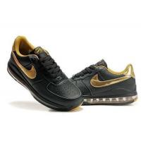 Buy cheap Mens Air Force 1 Air Cushion Sneaker Shoes In Black Golden from wholesalers