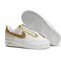 China Nike Air Force 1 (GS) 4th of July Golden Star White Mens Shoes on sale