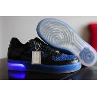 Buy cheap Mens Nike Air Force One Ventilate Low Cut Shoes In Black Blue from wholesalers