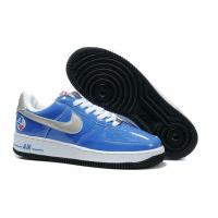 China Nike Air Force 1 All-Star 2010 QS Team Royal Metallic Silver White Black for sale