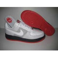 Nike Air Force One Mens Low Cut Shoes In White Grey and Black for sale