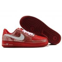 Nike Air Force 1 Red Silver Lizard Mens Shoes for sale
