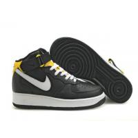 Nike Air Force 1 Mid Black White Yellow Mens Shoes for sale