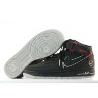 China Nike Air Force 1 Mid Matrix Black Neutral Grey Varsity Red for sale