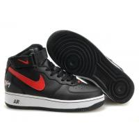 Nike Air Force 1 Mid Black Red White Mens Shoes for sale