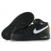 Nike Air Force 1 Mid Black White Black Mens Shoes for sale