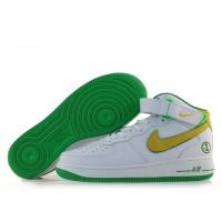 Nike Air Force 1 Mid Matrix Green Yellow Mens Shoes for sale