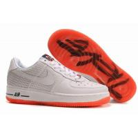 China Nike Air Force 1 Low Premium Futura Nike Baseball Light Grey Orange Mens Shoes on sale
