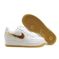 Nike Air Force 1 Low White Metallic Golden Mens Shoes for sale
