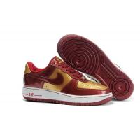 Nike Air Force 1 Low Iron Man Team Red Metallic Gold Mens Shoes for sale