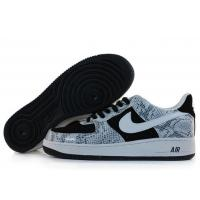 Nike Air Force 1 Low Black White Serpentine Mens Shoes for sale