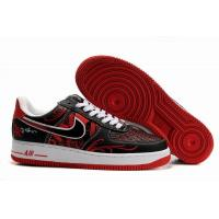 Nike Air Force 1 Low Mr.CARTOON Black Red Mens Shoes for sale