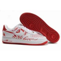 Nike Air Force 1 Low Mr.CARTOON White Red Mens Shoes for sale
