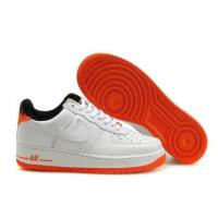 Nike Air Force 1 Low White Orange Black Mens Shoes for sale