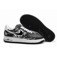 Nike Air Force 1 Low Mr.CARTOON Black White Mens Shoes for sale