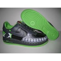 China Mens Nike Air Force 1 25th Black Green Shoes on sale