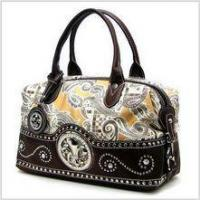 Quality Fleur-de-lis Paisley Satchel for sale