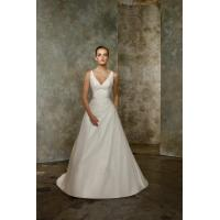 Quality V Neck Pleated Taffeta Beading Sexy Bridal Gowns 2012 Sale for sale