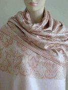 Quality Celia Pink Silk Paisley Revesible Shawl Wrap SELECTION PRIVEE for sale