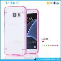 Quality Colorful Crystal Transparent Clear TPU Hard Case For Samsung Galaxy S7/S7 Edge/S7 Plus for sale