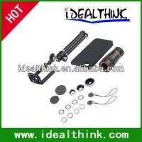 Quality Item  Travel Kit 4 in1 Lens Kit for iPhone 4/4S (10X Telephoto+Fish Eye+Wide Angle+Macro Lens) for sale