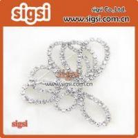 Quality Wholesale Crystal Glass Rhinestone Wedding Bridal Dress Buckle for sale