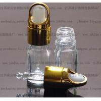 Quality 5ml glass transparent Essential oil bottle with an Aluminium basket Dropper Cap for sale