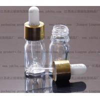 Quality 5ml glass transparent Essential oil bottle with an aluminum dropper caps for sale