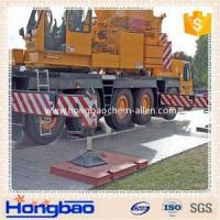 Non -slip board for strong construction crane pads/ temporary road protection outrigger pa
