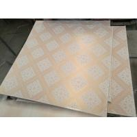 Quality Galvanized Metal Frame PVC Laminated gypsum ceiling tile for sale
