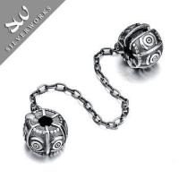For Clasp Snake Bracelet Thai Silver Handmade Safety Beads Chain