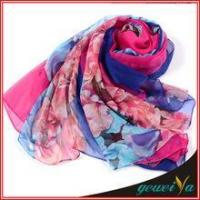 Scarf In Stock Of Soft New Digital Printed Chiffon Scarves