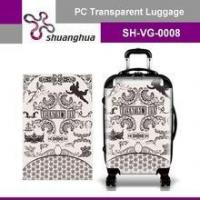 Quality summer holiday&travelling transparent pc customized suitcase for sale