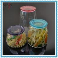 Airtight Kitchen Storage Jar Glass Container with Plastic Lid