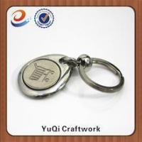 Quality High quality new design promotional metal coin holder keychain for sale