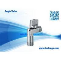 China Silver Zinc Angle Valve For Toilet , Braided Hose , Faucet , Water Tap on sale