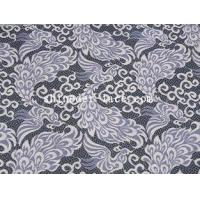 Unique Phoenix Pattern Deisgn Cotton Nylon Lace Fabric Purple/Ivory Noble For Apparel SYD-0187